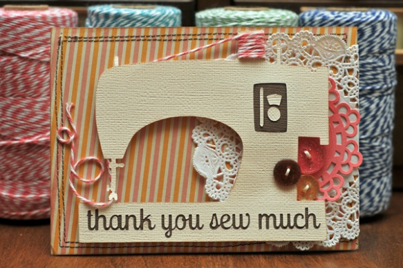 thanks sew much card